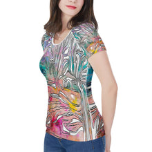 "Load image into Gallery viewer, ""Tropical Afternoon"" Women's All-Over Print T shirt"