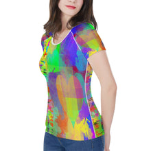 "Load image into Gallery viewer, ""Frequency"" Women's All-Over Print T shirt"