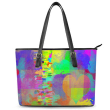 "Load image into Gallery viewer, ""Frequency"" Tote Leather Tote Bags"