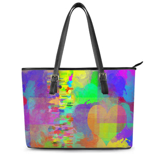 """Frequency"" Tote Leather Tote Bags"