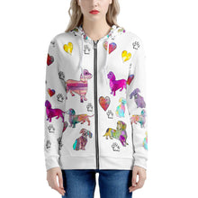 Load image into Gallery viewer, Dachshunds Hoodie, white