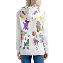 Load image into Gallery viewer, Poodle Hoodie, white