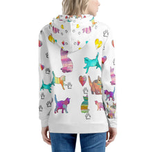 Load image into Gallery viewer, Cats Hoodie White