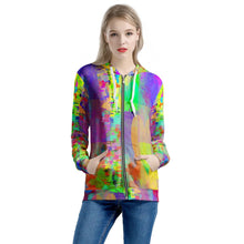 "Load image into Gallery viewer, ""Frequency"" Women's All Over Print Zip Hoodie"