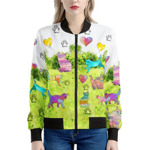 Load image into Gallery viewer, Cats Women's Bomber Jacket