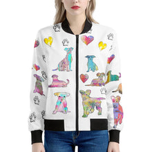Load image into Gallery viewer, Mixed Breeds Women's Bomber Jacket