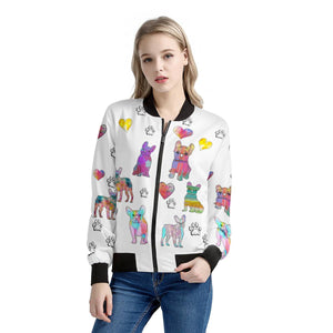 French Bulldog Jacket, white