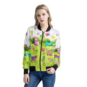 Cats Jacket Green