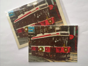 "Greeting Card ""Old Streetcar"""