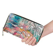 "Load image into Gallery viewer, ""Tropical Afternoon"" Wallet L Zipper Purse"