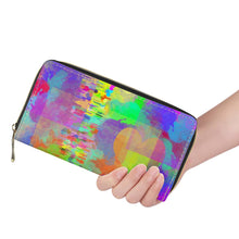 "Load image into Gallery viewer, ""Frequency"" Wallet L Zipper Purse"