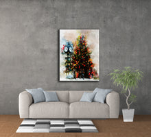 "Load image into Gallery viewer, ""Oakville Christmas"" - digital art on canvas"