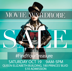 WOTEVER WILL BE AT THE CAFTCAD MOVIE WARDROBE SALE – COME VISIT OUR BOOTH!