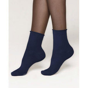 Bleuforet Roll-Top ANkle Socks in Navy