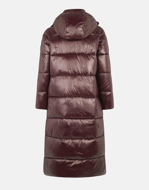 Lucky Style Parka in burgundy against white background, front