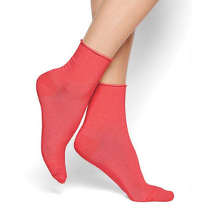 Bleuforet Roll-Top Ankle Socks in Gaspacho