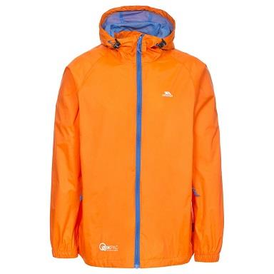 Trespass Qikpac Waterproof Jacket in Sunrise