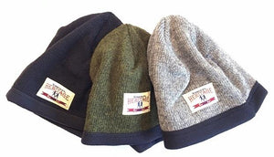 all three colours of the Stanfield's heritage fleece lined wool hat
