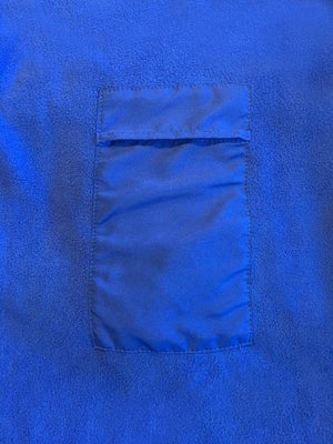 close up of the pockets on the blanket that hold the hot shots.