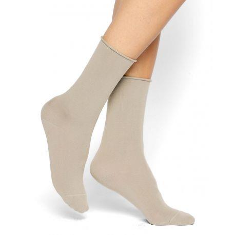 Bleuforet Cotton Roll-Top Socks in Sahara