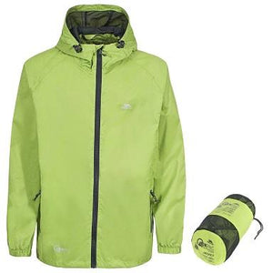 Trespass Qikpac Waterproof Jacket in Leaf