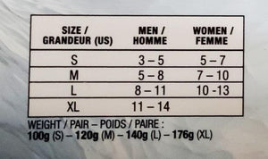 size chart for city ice cleats