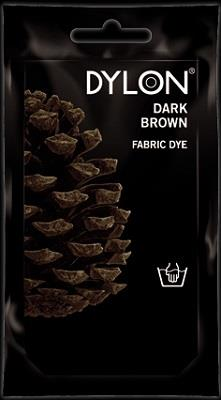 Dylon, Natural Fabric Dye, 50 g pouch, Dark Brown