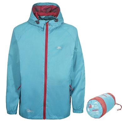 Trespass Qikpac Waterproof Jacket in Aquatic