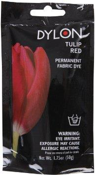 Dylon, Natural Fabric Dye, 50 g pouch, Tulip Red