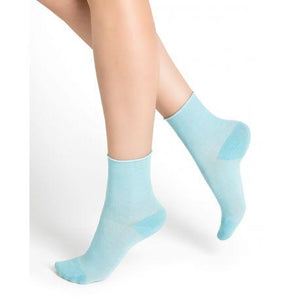 Bleuforet Roll-Top Ankle Socks in Archipelago