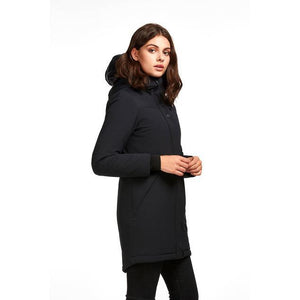 Side View of Audvik Montreal Parka in Black