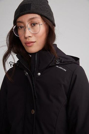 "Audvik Ladies ""Bali"" Parka in Black - Front View"