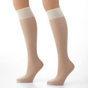 Secret pantyhose, knee highs. O/S. 2 pack.