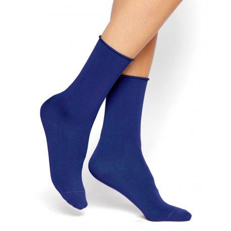 Bleuforet Cotton Roll-Top Socks in Admiral