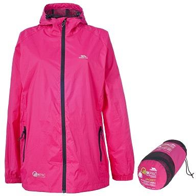 Trespass Qikpac Waterproof Jacket in Sasparilla