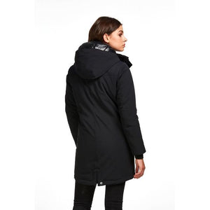 Back View of Audvik Montreal Parka in Black