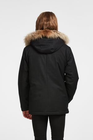 "Audvik Men's ""Sydney"" Parka -- No Fur, No Down -- Black or Marine Blue"