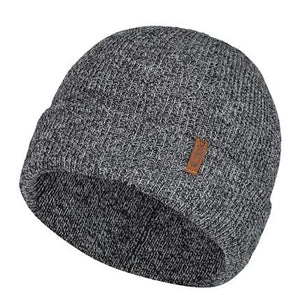 Laska, Double Knit Touque with folded brim. One Size. Grey