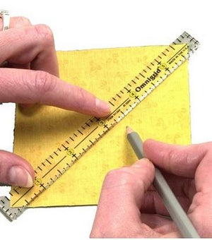 "Omnigrid ruler set.  3 sizes, 4"", 6"", 12""."
