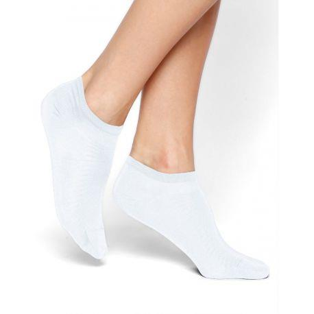 Bleuforet Mercerized Cotton Ankle Socks in White