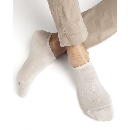 Bleuforet Men's Egyptian Cotton Ankle Socks in Cream