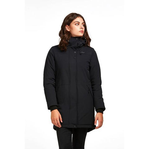 "Audvik Ladies ""Montreal"" Parka in Black - Front View"