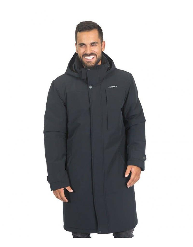 Front View of Audvik Men's Denver Parka in Black