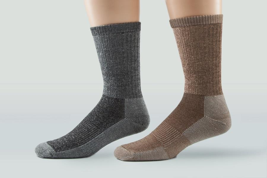 Stanfield's Thermal Socks, Merino Wool Blend, in Tan and Graphite, One Size