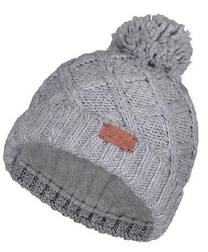 Laska Cable Knit Pom Pom Hat