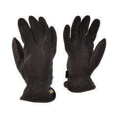Laska, Ladie's Deerskin Gloves. Fleece Lined. 1 Pair. Sizes Small to Extra Large. Black with elastic wrist.