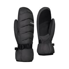 Laska, Ladies, Down Mitt, Fleece Lined, Windproof Sizes Small to Extra Large. Black with wrist strap for adjustment.
