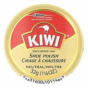 Kiwi shoe polish. 32g tin. Neutral