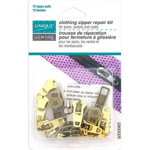 Unique clothing zipper repair kit