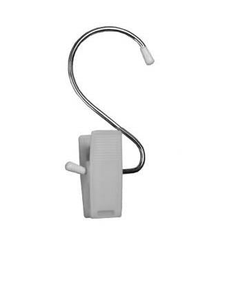 Hercules Clip with Hook . White